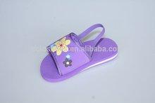 Coface Elastic Straps Purple Pink Slipper Kids Footwear
