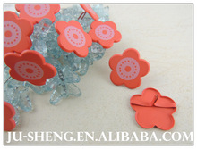 red plum blossom shaped brads wholesale