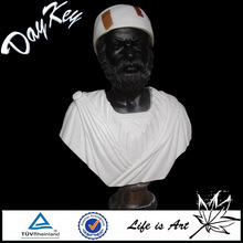 2014 Hot Selling Black Marble Old Man With Hat Bust Carving