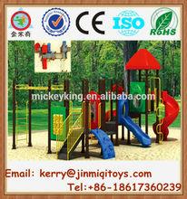 Multiple colorful plastic slide playground, preschool outdoor equipment, plastic playground equipment south africa JMQ-P070A