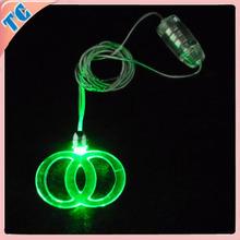 Party decoration Eco-Friendly led flashlight necklace