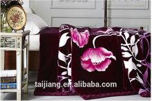 2014 New arrival hot sale super soft plush raschel blanket