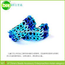DIY twist rubber band,mini rubber band,multi colorful elastic loom rubber