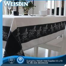 Flannel Fabric Guangzhou Jacqurd circle/ring pattern pvc table cloth