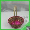 Round bamboo basket for packaging , bamboo fruit basket,colorful bamboo basket weaving