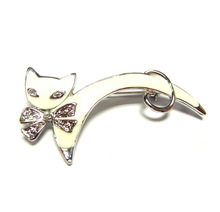 Big discount: rhinestone paved alloy CAT shaped brooch accessory