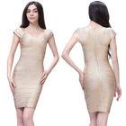 Gold bandage dress cap sleeve 2014 latest dress designs pictures
