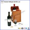 Fashion Unique Design Handmade brown leather wine carrier