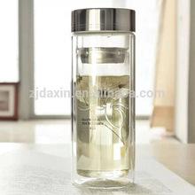 Small Tea Infuser Water Filter Drinking Water Sport Glass Bottle