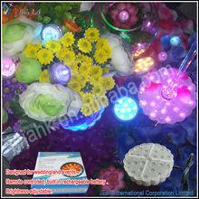 Christmas decoration enhance aura floral multicolor changing led bulb base