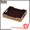 Plastic rectangular tray with compartments