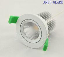 High quality recessed ob white frame 12w 3000k LED downlight tilt