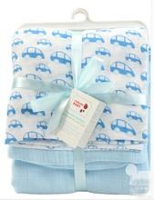100% cotton baby muslin blankett/cotton knitted baby blanket/ organic cotton baby blanket