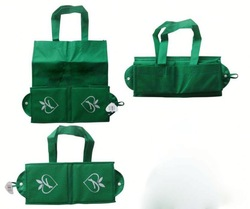 Popular foldable recycle nylon bags with handle,easy carry and use, OEM orders are welcome