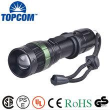 Aluminum 3 Watt LED High Power Flashlight with Clip