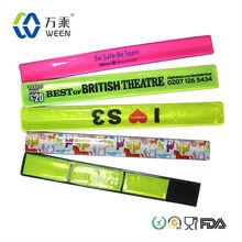 2014 promotion Custom reflective silicone snap bracelet