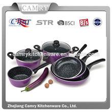 New design 9pcs aluminumchinese cookware