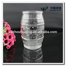 500ml fancy unique barrel shaped clear cut glass mason jar for candy wholesale high quality cheap