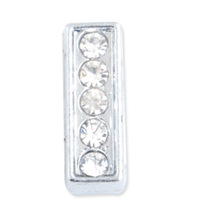 8mm rhinestone letter slider charms