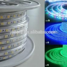 Cuttable Outdoor&Indoor AC110V 240V SMD5050 led strip light 50m/Roll christmas led rope light cut