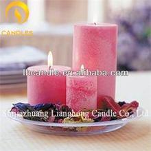 venta al por mayor de cera de parafina de color citronela pilar la decoración del hogar vela