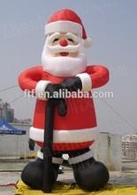 8m inflatable tall Christmas santa decoration/giant inflatable Santa for Christmas decoration