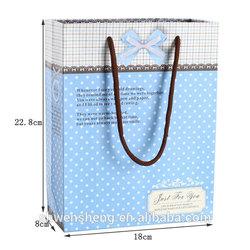 new design high quality handmade linen gift bag