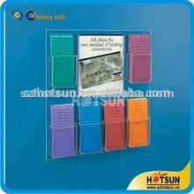 customized wall mount acrylic brochure holder