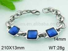 Fashionable handmade bracelet with blue stone gps bracelet