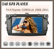 Fit for TOYOTA corolla 2011 2012 CAR DVD BLUETOOTH TV GPS NAVIGATION IPOD 3G/WIFI PLAYER