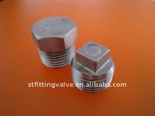 dn80 ss304/ ss316 bsp/npt high quality stainless steel casting hex plug