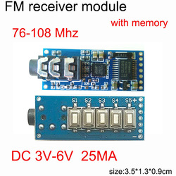 FM stereo radio fixed frequency receiver wireless audio transmission push button sound module