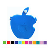 Apple Bited Zipper Silicone Rubber Purse