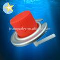 De gas butano cartucho de recarga de la válvula& gorras rojas