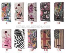 New Butterfly Heart Flower star zebra UK US flag Wallet PU Leather Case For Alcatel One Touch POP C7 OT 7041D OT 7040D