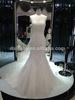 Newest Organza Black Sash hign neck long sleeve wedding gowns