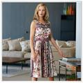 Personalizadas 2015 de calidad superior del nuevo diseño de impresión digital 100% vestidos de satén de seda