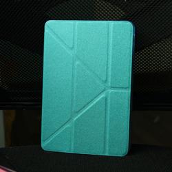 slim smart magnetic PU for ipad mini leather case
