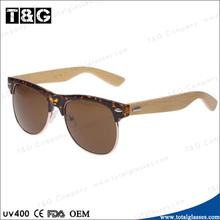 2014 New fashion designer eyewear novelty sunglasses wood leg full sun glasses