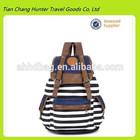 Unisex Fashionable Canvas Backpack School Bag Super Cute Stripe School College Laptop Bag for Teens Girls Boys Students