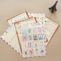 Vintage Stamp Sticker for scrapbook