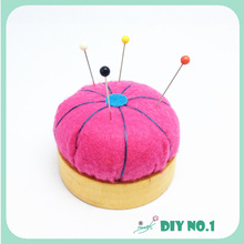Halloween Decor Neon Orange Felt wool Pincushion Needle