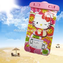 Wholesale Hot selling new pink cat mobile phone PVC Waterproof Bag