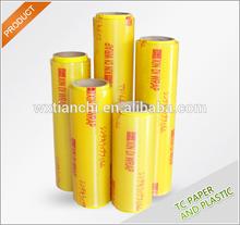 plastic wrap with good stretching keep food fresh pvc food grade cling film