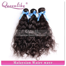 Fast delivery queenlike lovely water wave hair extensions for black hair