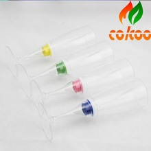 Party supply flashing led champagne glass /flashing led cup event decoration,glow in the dark plastic cup accept Escrow