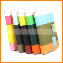 Assorted Color Wallet Leather Case For iPhone 5 5s Assorted Color Case With Cards Slots Inside