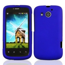 cell phone rubberized blue snap on For Huawei Vision II 2 hard cover case