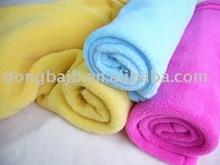 Baby Blanket in Coral Fleece