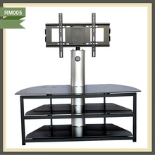 Living Room Furnituremodern moving lcd tv stand tv stand new glass set tv stand